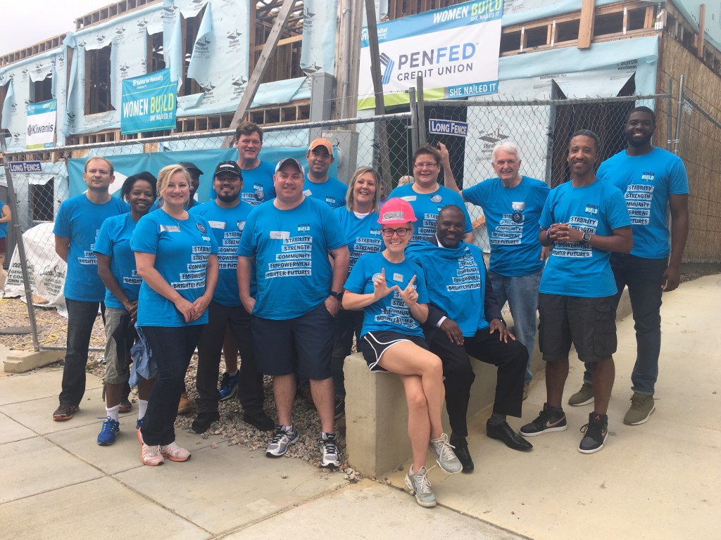 MidCity Development team members a Habitat for Humanity Women Build Event